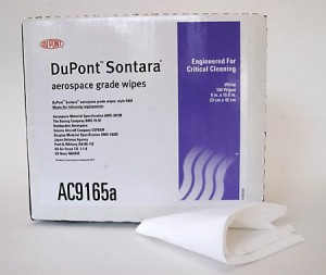 DuPont 9 x 16.5-inch Low Lint Nonwoven Wipes