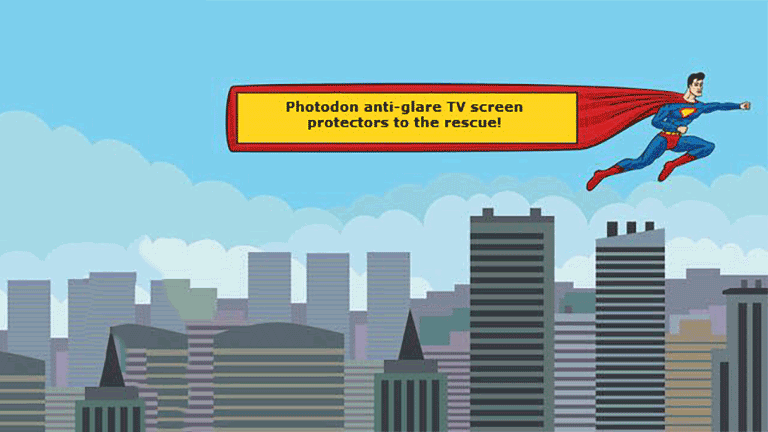 Photodon anti-glare TV screen protectors to the rescue!
