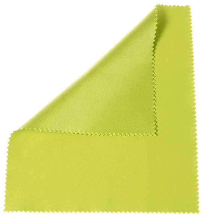 "Apple Green 6""x7"" microfiber cloth"