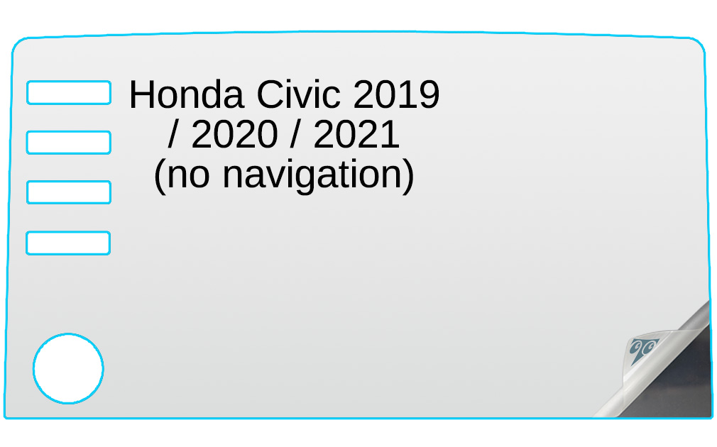 MBSIX Tempered Glass Screen Protector Compatible with 2019-2020 Honda Civic 7-inch Touch Screen,HD Clear,Scratch-Resistant,Anti Glare,2020 Honda Civic Sport EX EX-L Touring