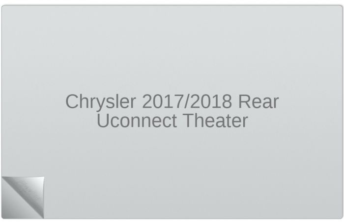 Chrysler Pacifica 2017/2018 Rear Uconnect Theater 10-inch Display Screen  Protector