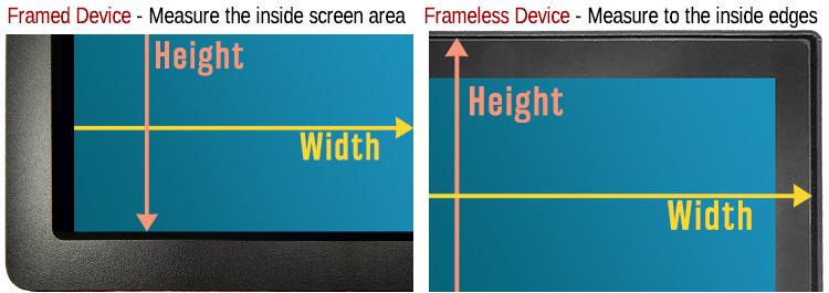 framed vs. frameless measure