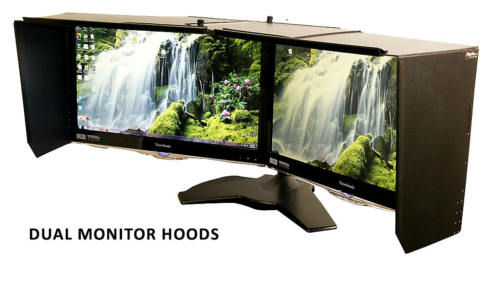 Custom Dual Monitor Hood Adjustable Angle
