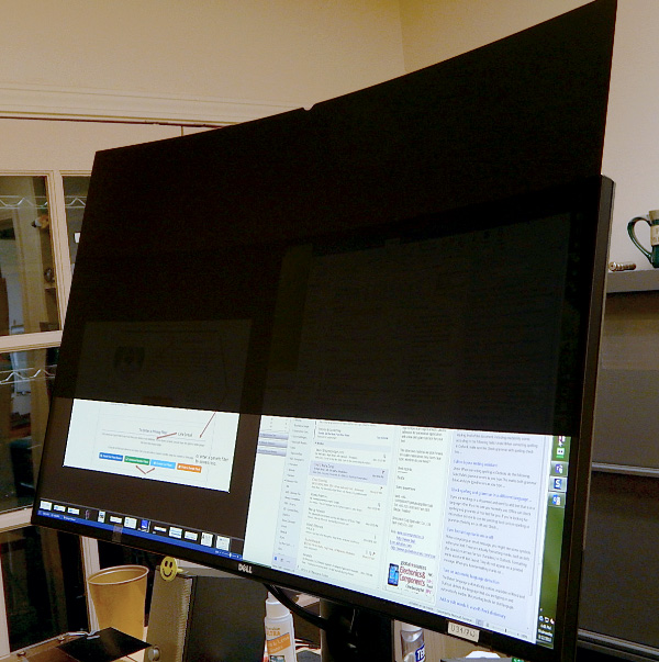 Curved Monitor Privacy Filter