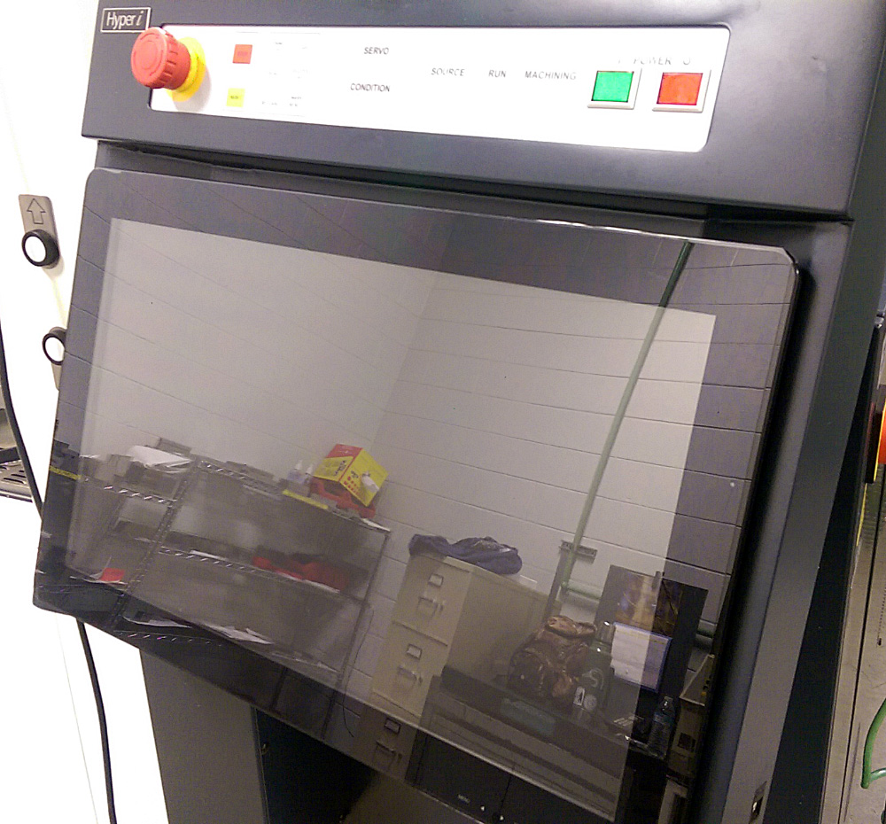 6HS Screen Protector, applied on a Makino U6 Wire EDM Machine