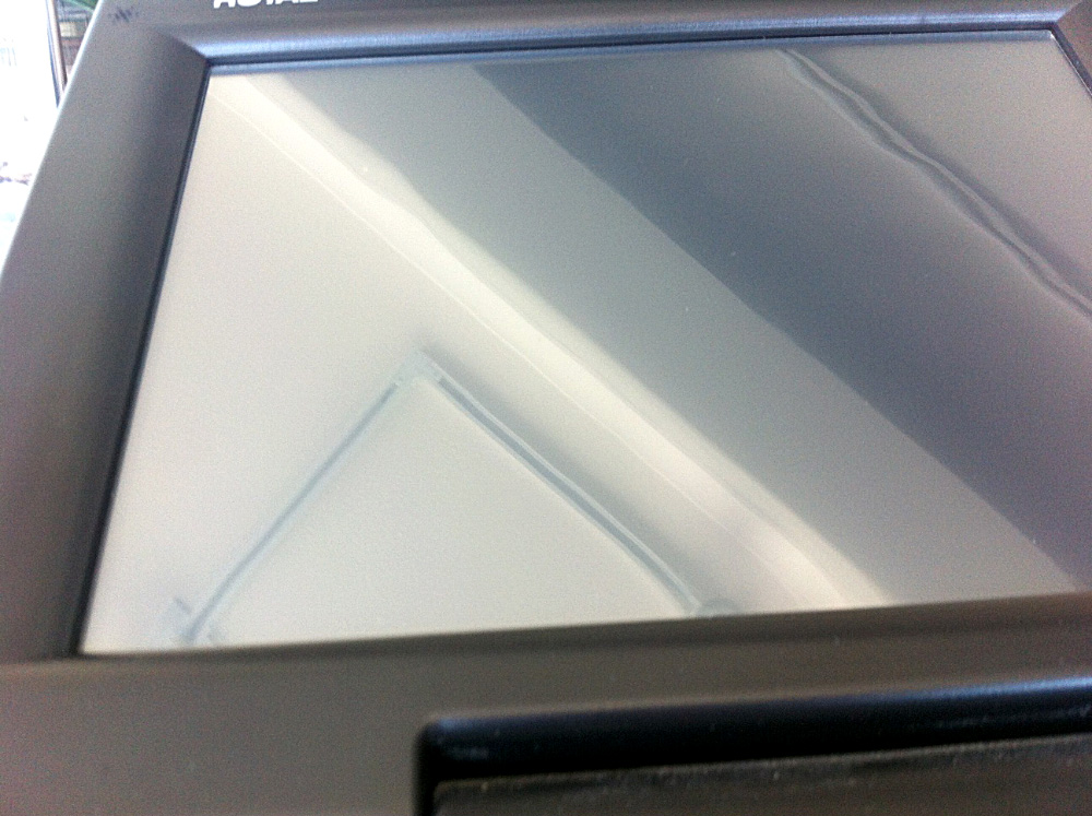 MXO Screen Protector, applied on a Royal TS1200MW cash register